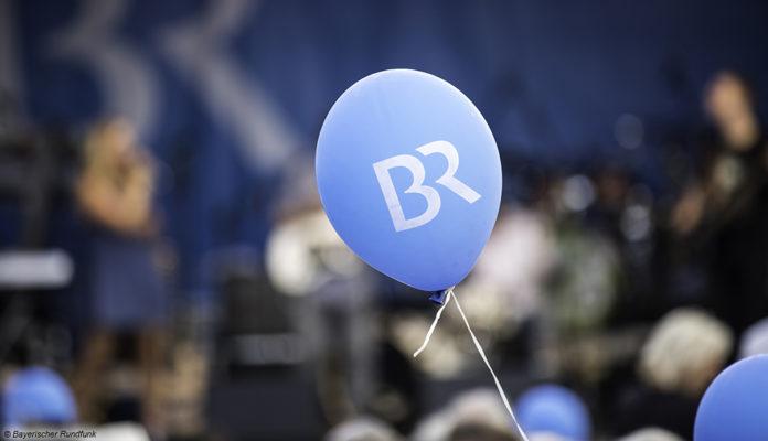 bayerischer rundfunk br logo auf ballon