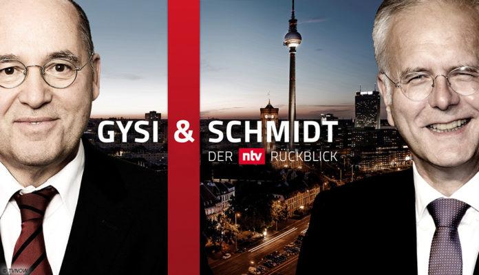 Harald Schmidt und Gregor Gysi mit ihrem Jahresrückblick bei N-TV