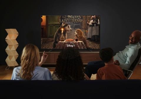 Disney+ auf einem Sony Bravia Smart TV