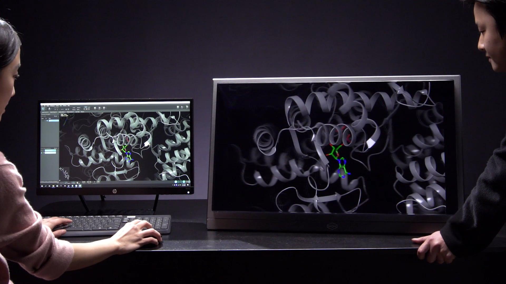 Neuer 8K-Hologramm-Monitor ermöglicht 3D ohne Headset