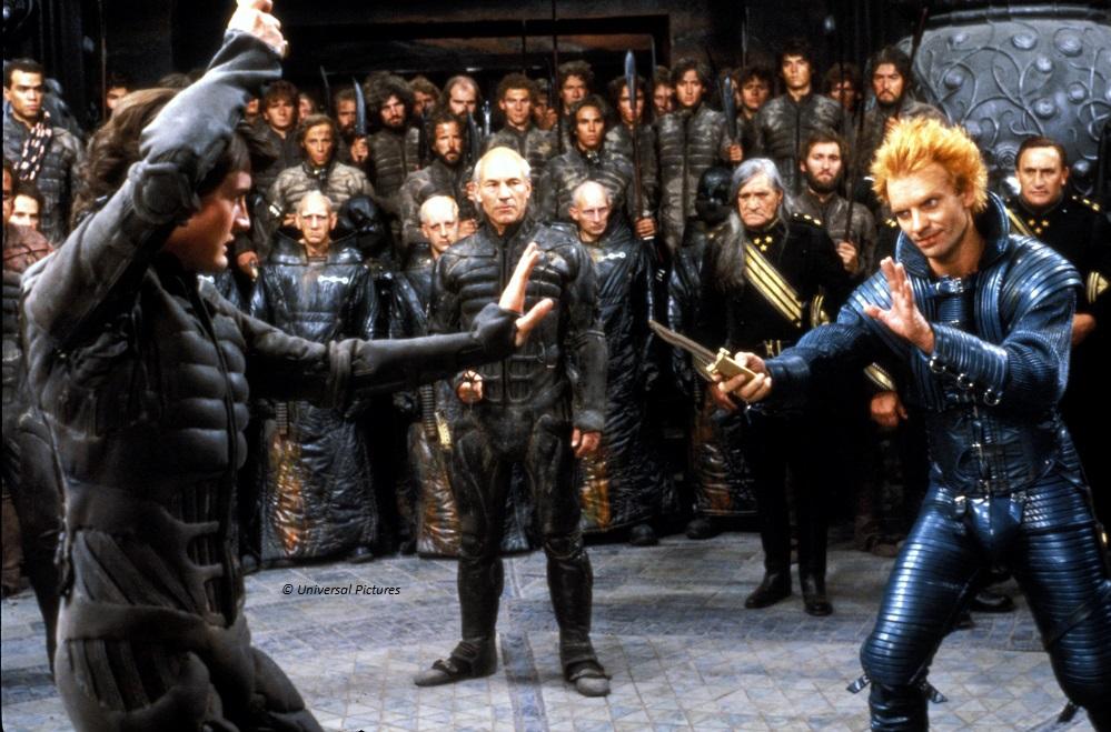Sting als Bösewicht Feyd-Rautha im tödlichen Duell gegen Paul Atreides (Kyle McLachlan)