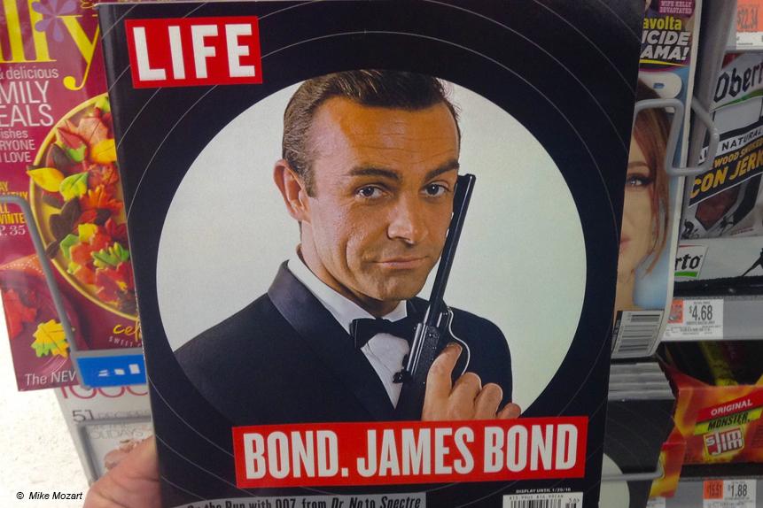 Der kürzlich verstorbene Leinwandstar Sean Connery als James Bond.