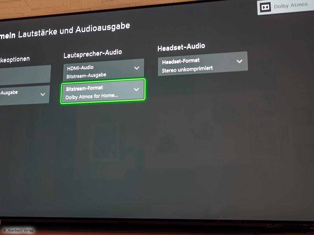 Ein Blick in die Audio-Einstellungen der Xbox Series X