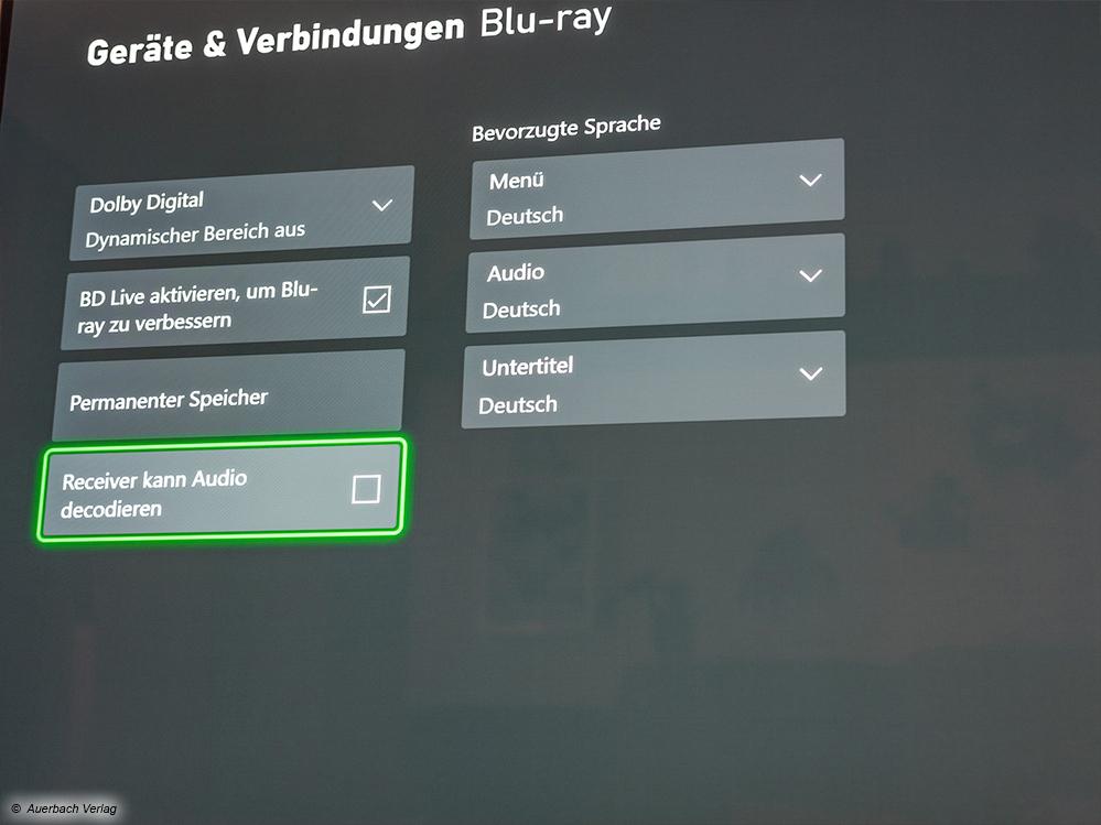 Ein Blick in die Einstellungen der Xbox Series X