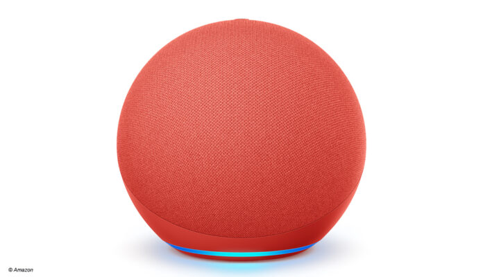 Der Amazon Echo Red, Sonderedition der 4. Generation Smart-Lautsprecher