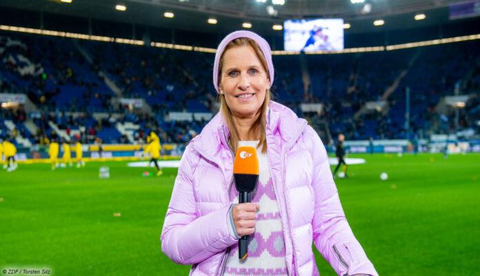Kathrin Müller-Hohenstein ist für das ZDF als Moderatorin beim Nations League-Spiel der DFB-Elf gegen die Ukraine im Einsatz.