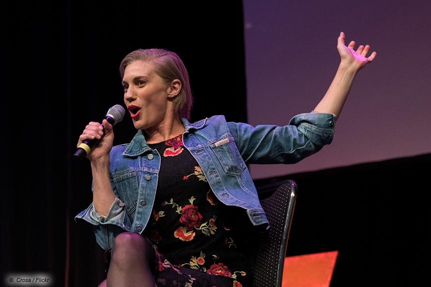"""Katee Sackhoff bei der SciFi-Messe FedCon in Bonn: Hier noch mit der charakteristischen Starbuck-Frisur aus """"Battlestar Galactica"""""""