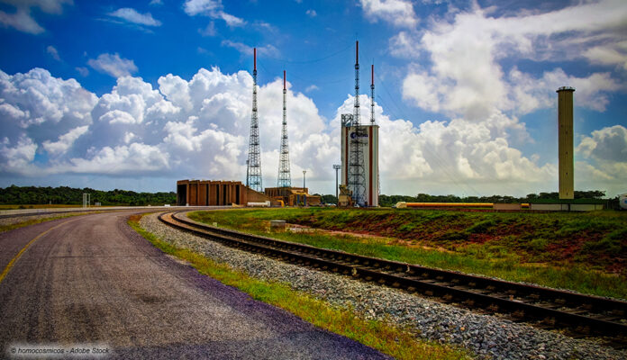 Raketenstartplatz des Raumfahrtzentrum Guayana bei Kourou