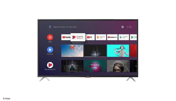 Der 4K-LED-TV 65BL5EA von Sharp mit Android TV und 65 Zoll Bilddiagonale