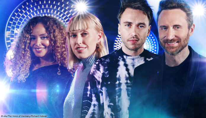 the voice of germany mit david guetta, clueso, lea und joy denalane
