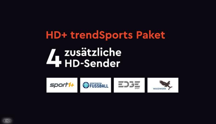 trendSports bei HD Plus umfasst Sport1+, Sportdigital Fussball, edgeSports und Waidwerk