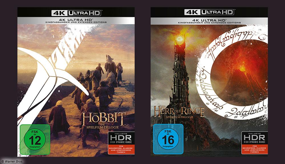 """""""Der Herr der Ringe"""" und """"Der Hobbit"""" erstrahlen in 4K-UHD auf Blu-ray"""