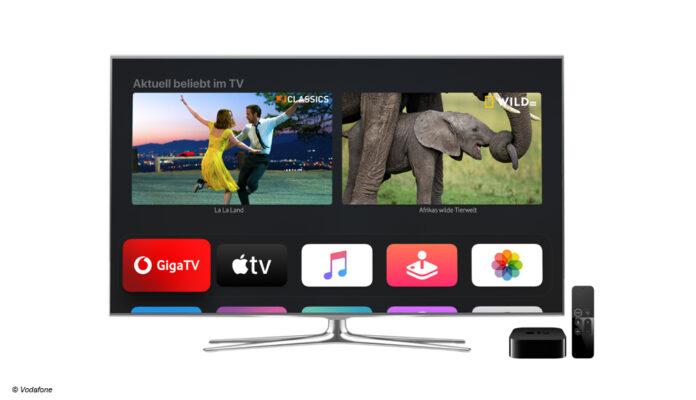 Apple TV 4K im Bundle mit GigaTV von Vodafone