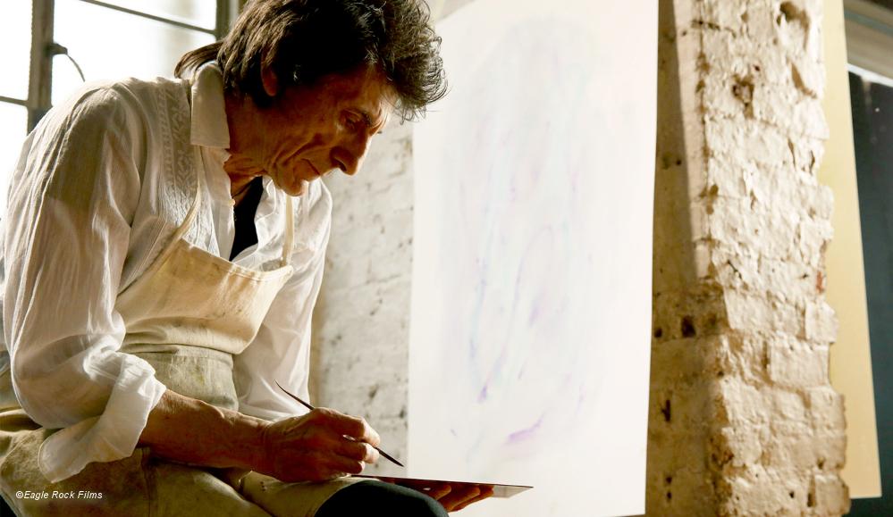 Stones Gitarrist Ron Wood beim Malen