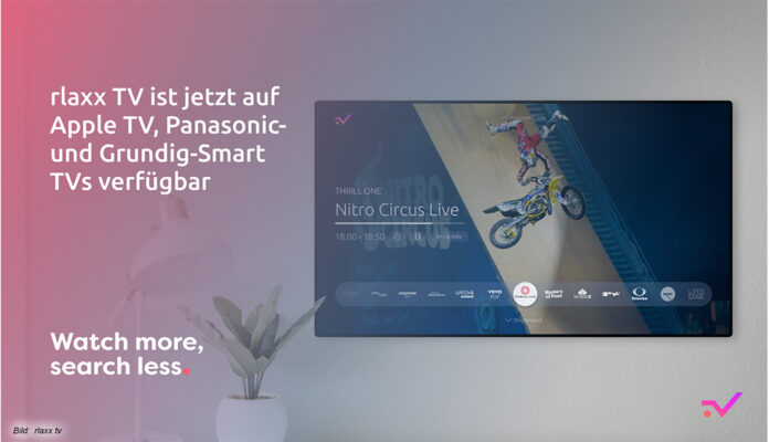rlaxx TV auf Apple TV, Panasonic- und Grundig-TVs