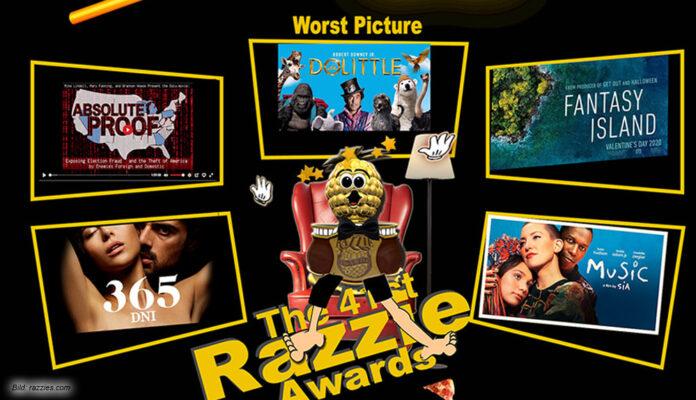 """Die """"Razzie""""-Awards - zu deutsch """"Goldene Himbeere"""" – adeln die schlechtesten Filme des Jahres"""