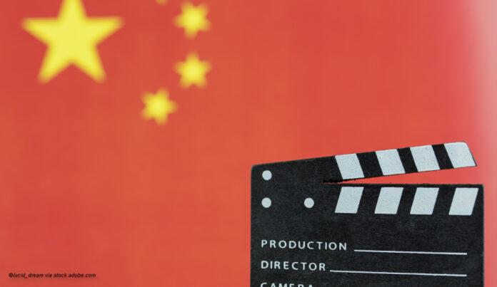 China Flagge Filmklappe