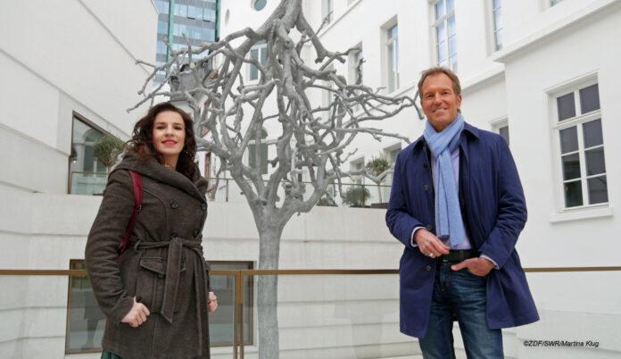 Marina Weisband und Markus Brock im jüdischen Museum Frankfurt