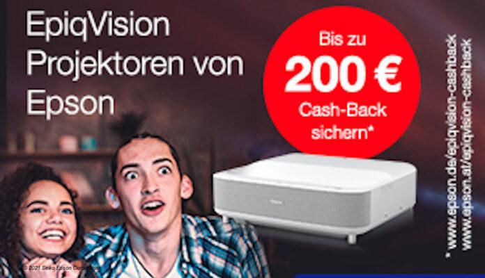 Epson Cashback auf Projektoren