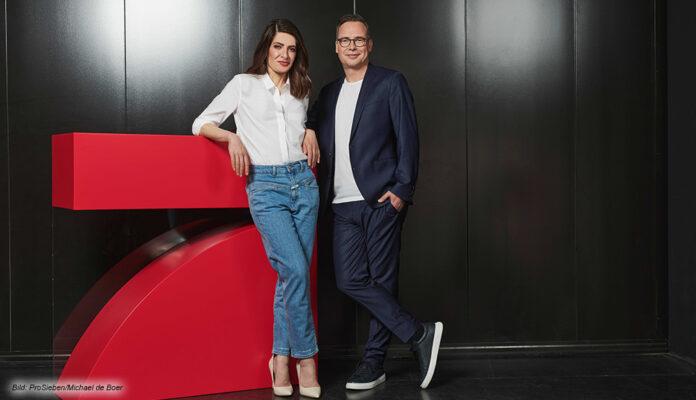Linda Zervakis und Matthias Opdenhövel, das neue Team bei ProSieben