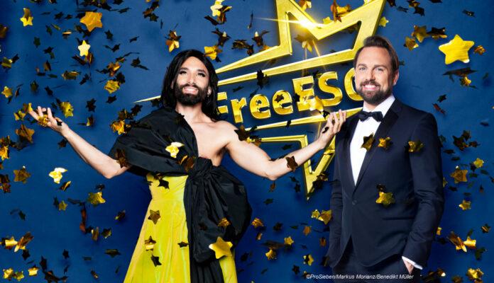 FreeESC Steven Gätjen und Conchita Wurst