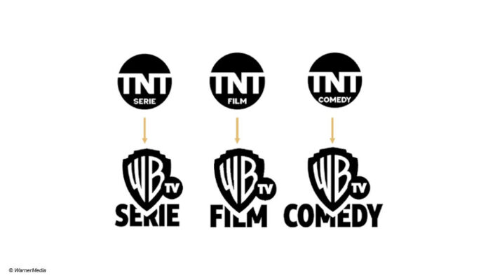WarnerMedia TNT Sender-Logos Rebrand
