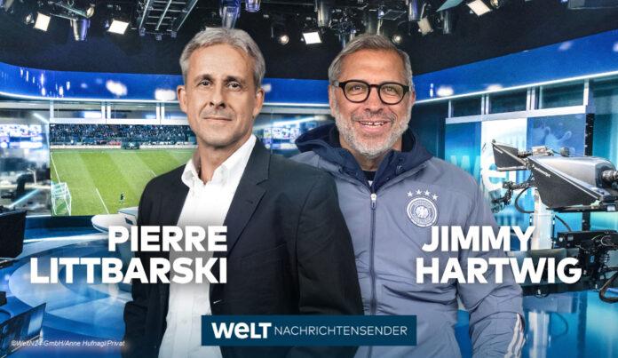 Fußball-Experten von Welt Littbarski und Hartwig©WeltN24 GmbH/Anne Hufnagl/Privat