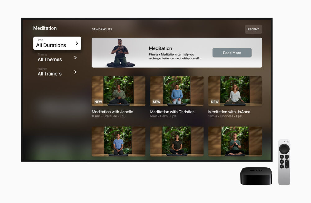 Geführte Meditation bei Apple Fitness+