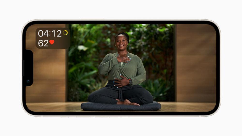 Meditation bei Apple Fitness+