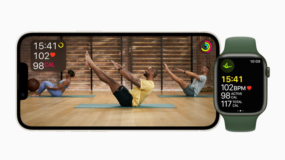 Pilates bei Apple Fitness+