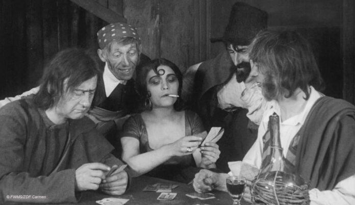 Szene aus Carmen (stummfilm von 1918) © FWMS/ZDF Carmen
