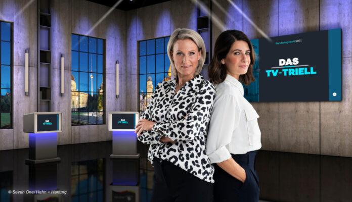 ProSiebenSat.1 Moderatorinnen-Duo Linda Zervakis & Claudia von Brauchitsch © Seven.One / Hahn + Hartung