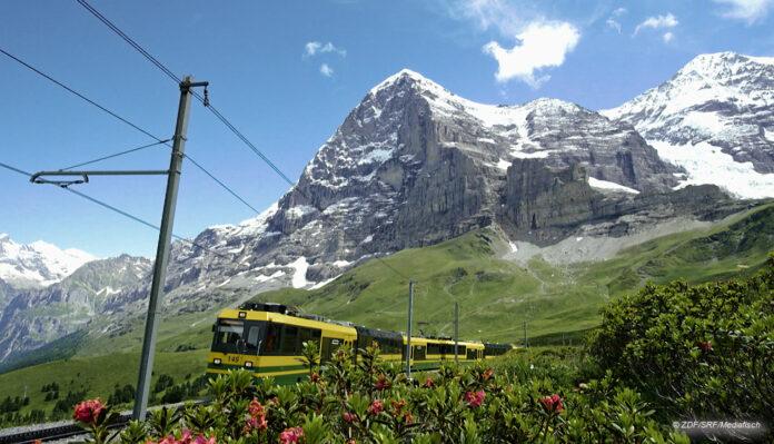 Jungfraubahn vr Eiger Nordwand ©ZDF SRF, Mediafisch